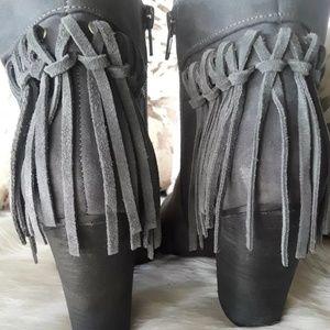 Carlos Santana suede fringe boots